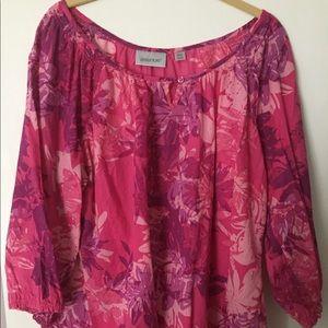 Avenue cotton blouse 3/4 sleeve